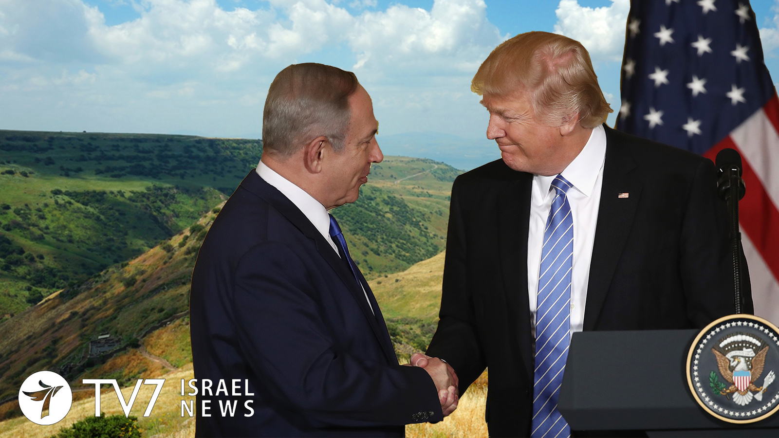 Trump and Netanyahu - U.S recognizes Israel's sovereignty over Golan Heights