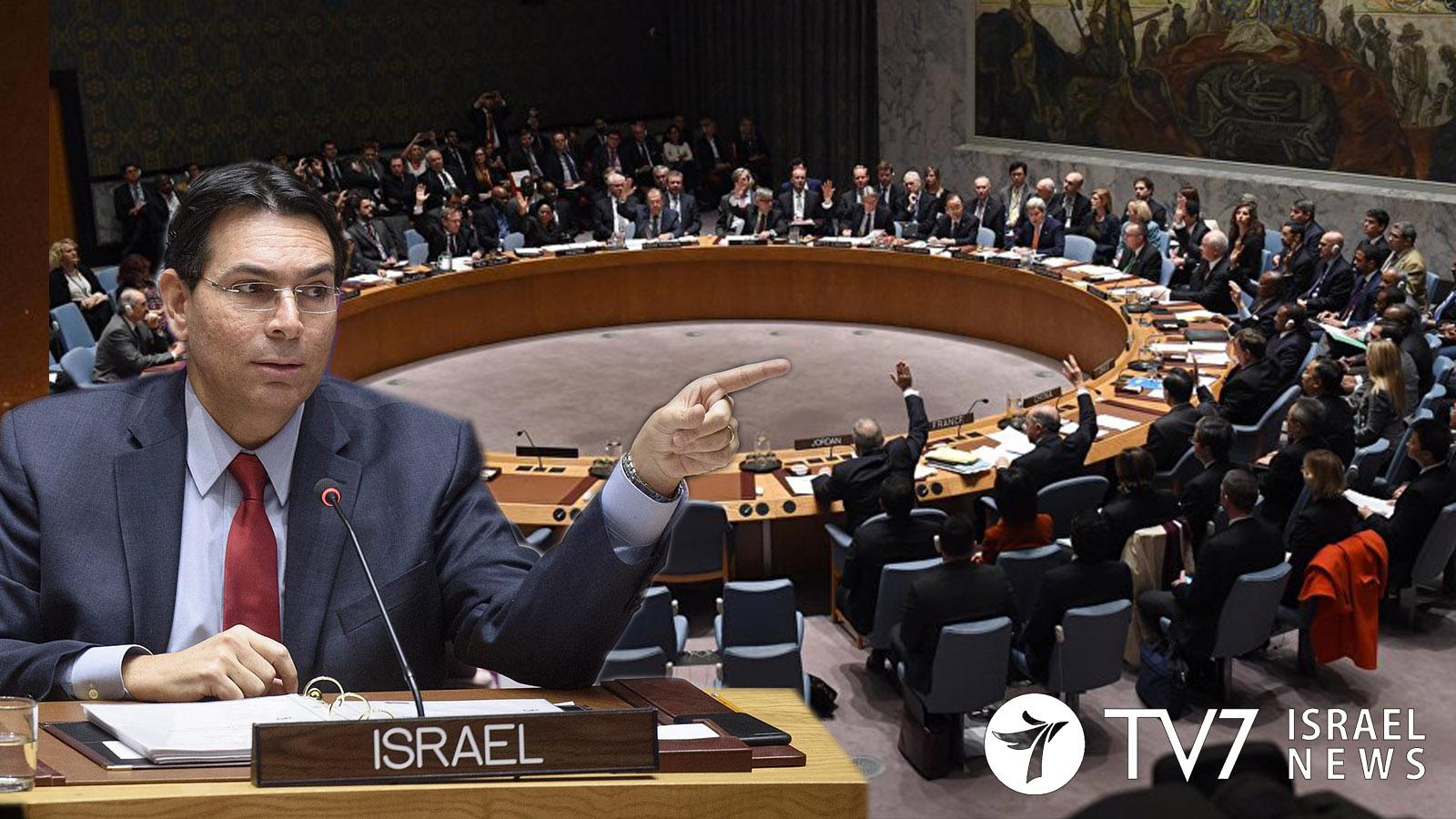 danny danon UN security council on Golan Heights