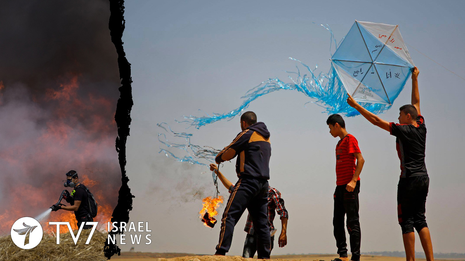 Dozens of incendiary balloons launched from Gaza into Israel