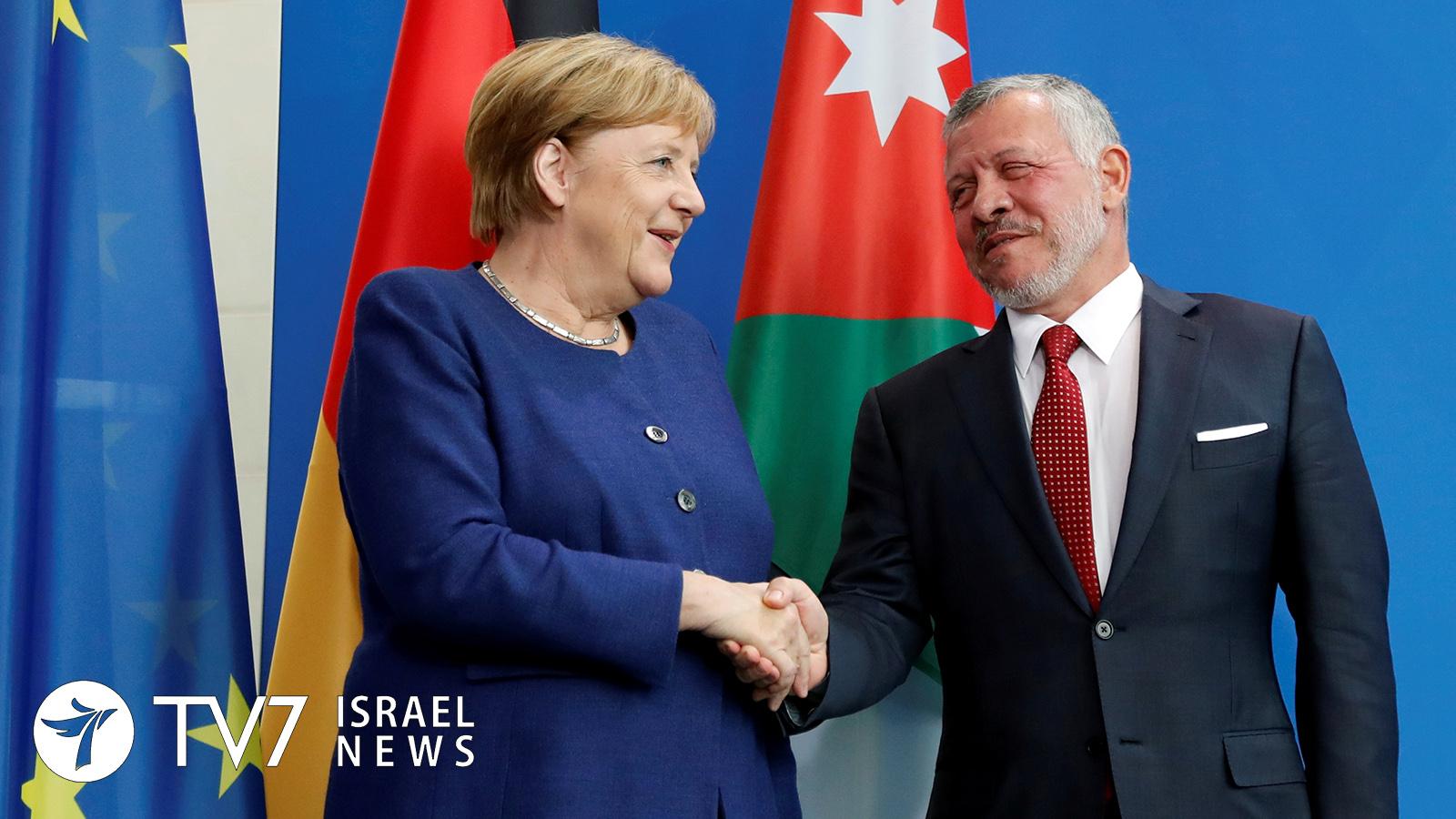 Angela Merkel, German Chancellor and Jordan's King Abdullah_reuters